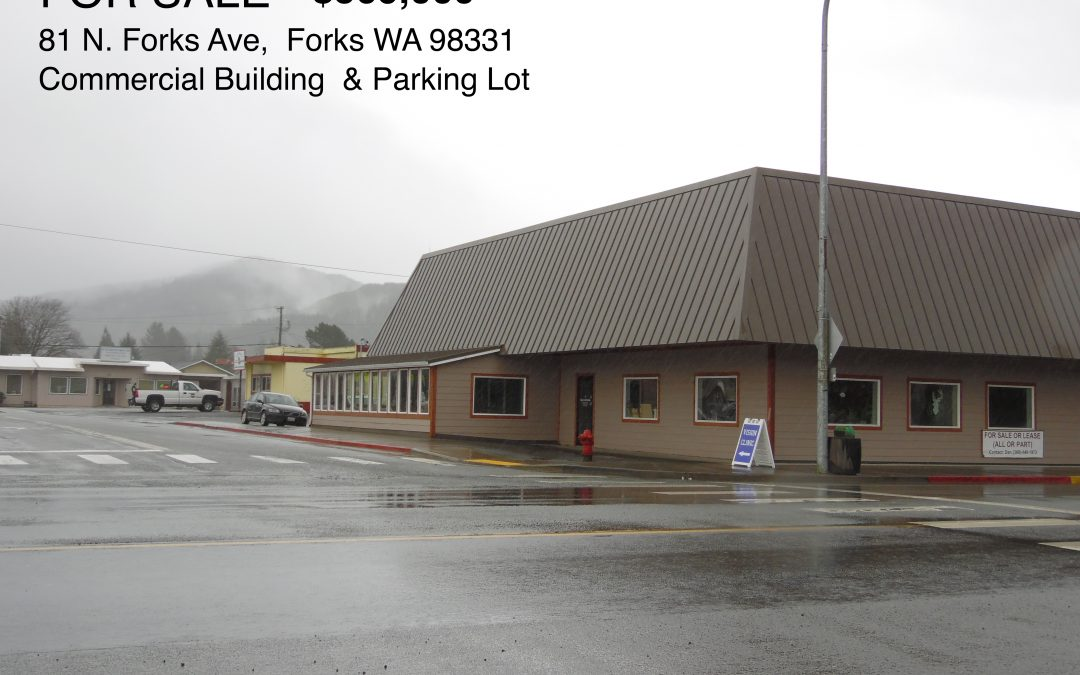 Coastal Live / Work Commercial Investment – FORKS, WA